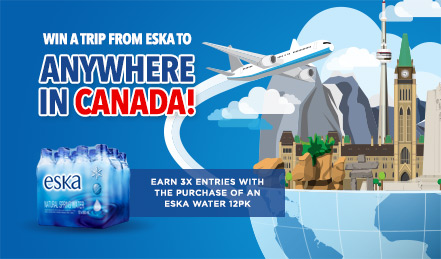 Win a Trip from Eska to Anywhere in Canada!